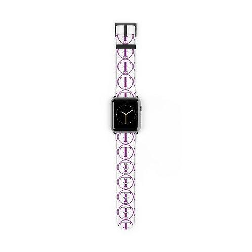 TNTCO White Watch Band (Purple)