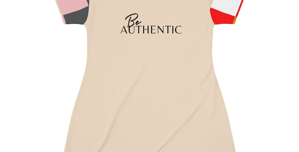 Be AUTHENTIC T-Shirt Dress