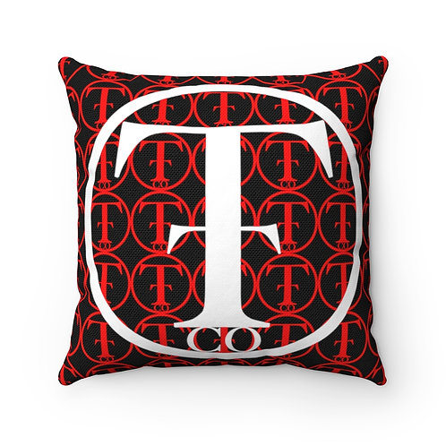 TNTCO Spun Polyester Square Pillow (Red)
