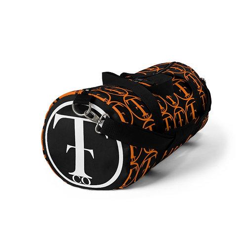 TNTCO. Black Duffel Bag (Orange)