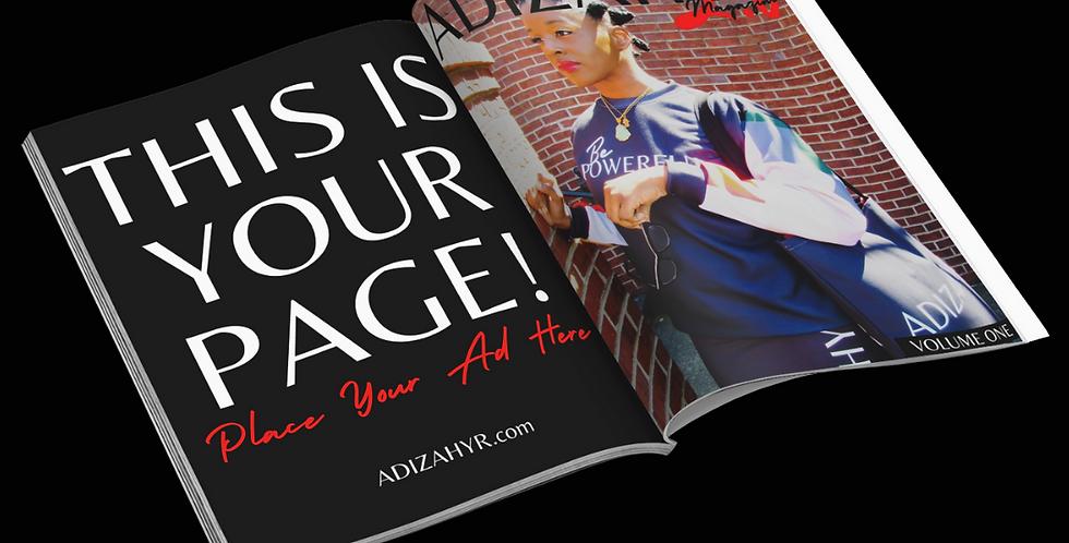 ADIZAHYR Magazine 2.0 Full Page Ad