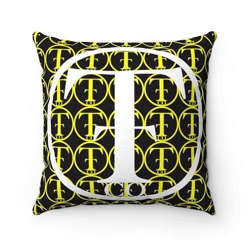TNTCO Spun Polyester Square Pillow (Yellow)