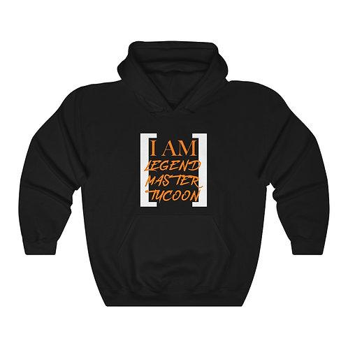 I Am LMT Men's Heavy Blend Hooded Sweatshirt (Orange)