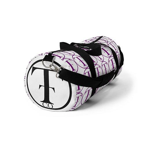 TNTCO. White Duffel Bag (Purple)