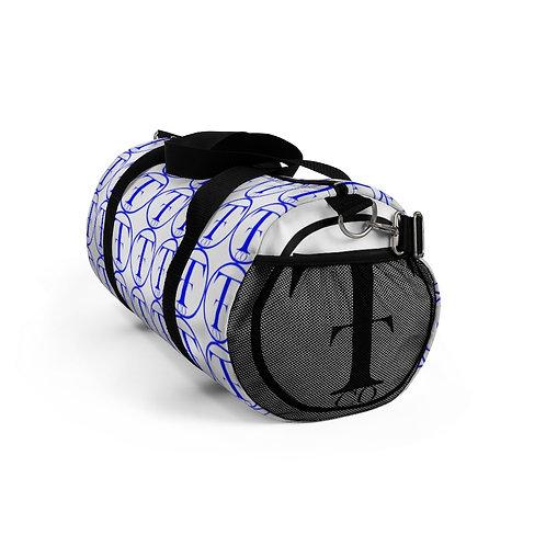 TNTCO. White Duffel Bag (Blue)