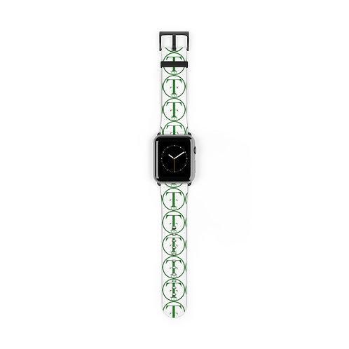TNTCO White Watch Band (Green)