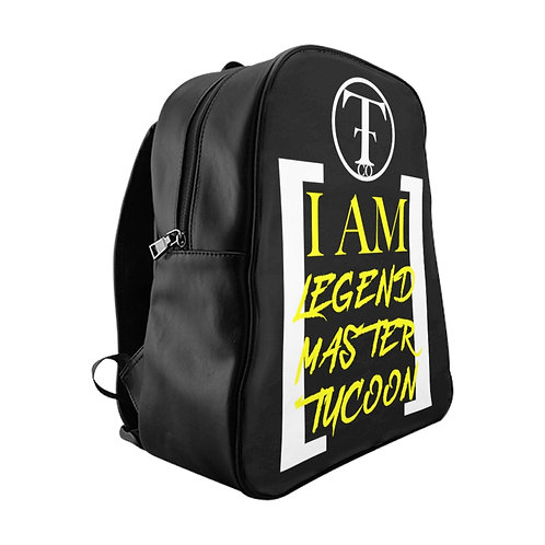 I Am LMT Black School Backpack (Yellow)