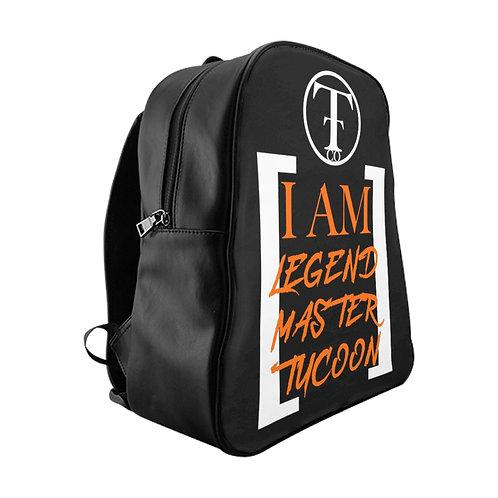 I Am LMT Black School Backpack (Orange)