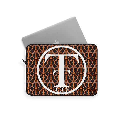 TNTCO Black Laptop Sleeve (Orange)