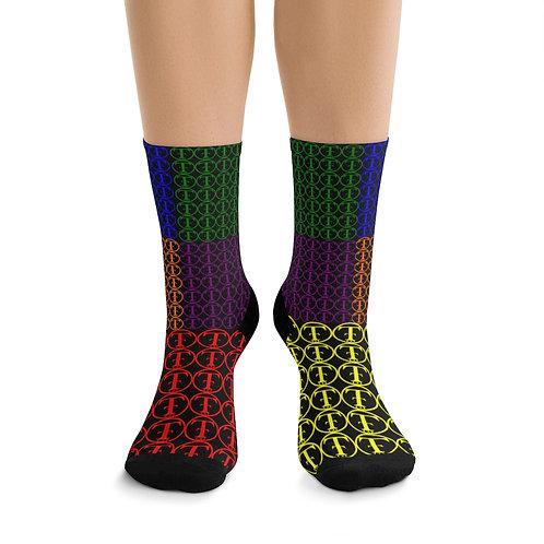 TNTCO Black DTG Socks (Multi-Color)