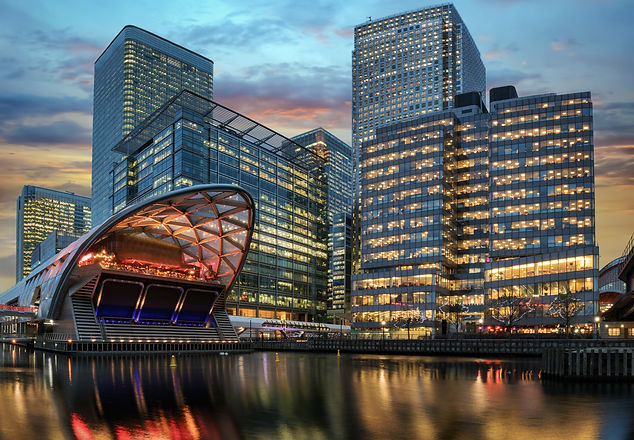 The financial district Canary Wharf in L