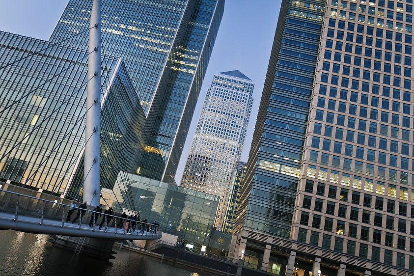 Canary Wharf is a large business and sho