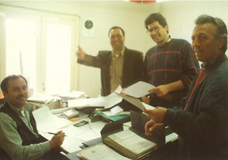Στο γραφείο των Κώστα Κωνσταντινίδη και Τάκη Τερζίδη