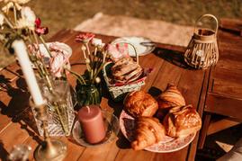 Table brunch viennoiseries