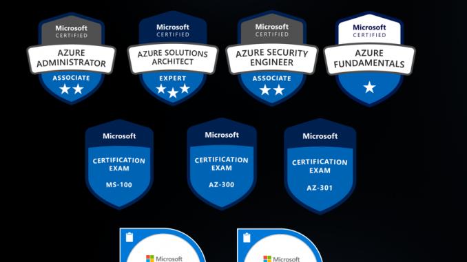 Principais certificações da Microsoft
