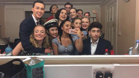 cast backstage
