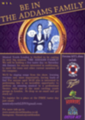 BE IN THE ADDAMS FAMILY with Musical You