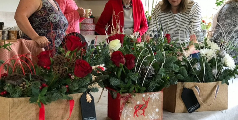 Xmas flower gift workshop Tuesday 16th November