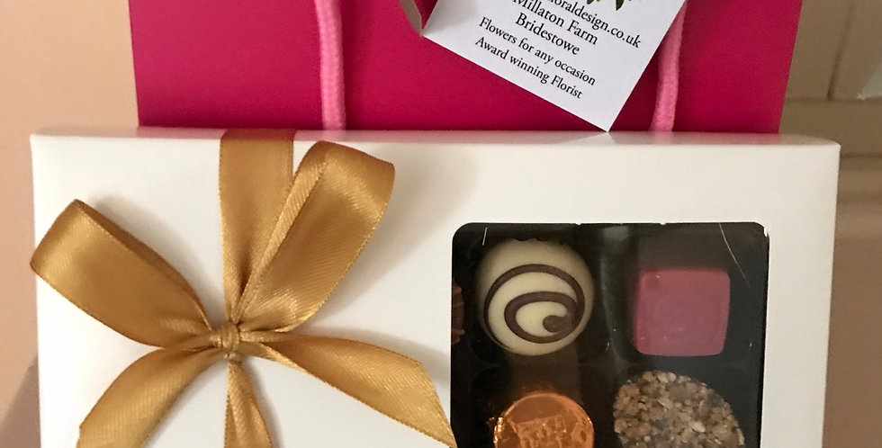 Box of luxury Belgium chocolates to accompany your flowers