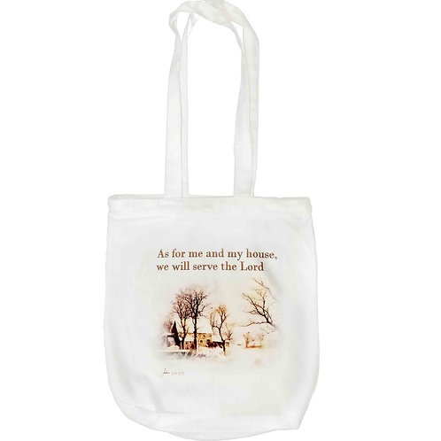 """As For Me and My House"" Zipper Tote Bag"