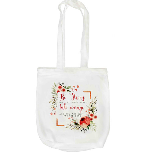 """Be Strong"" Zipper Tote Bag"