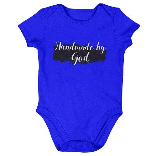 """Handmade By God"" Baby's True Blue Romper"
