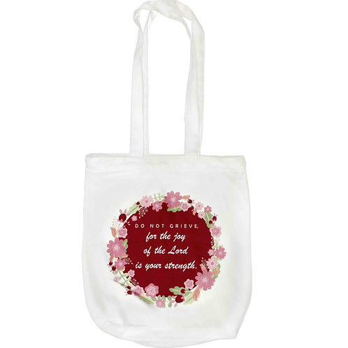 """Do Not Grieve"" Zipper Tote Bag"