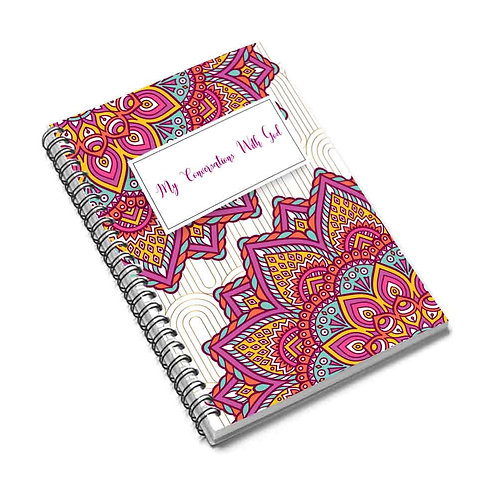 """""""My Conversations With God"""" Ruled Prayer Notebook"""