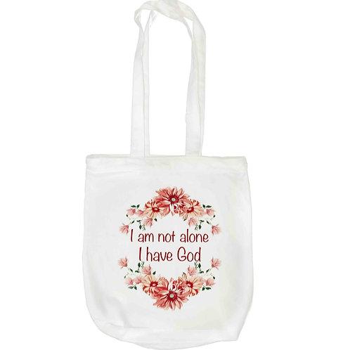 """""""I am Not Alone"""" Zipper Tote Bag"""