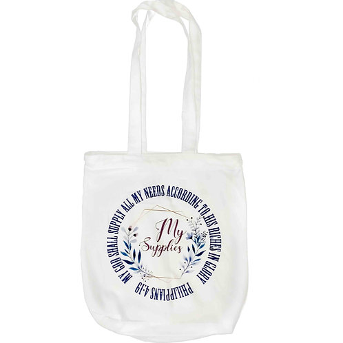"""God Shall Supply All My Needs"" Zipper Tote Bag"