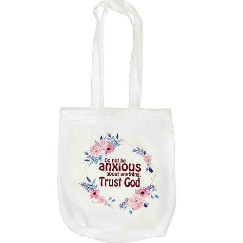 """Do Not Be Anxious"" Zipper Tote Bag"