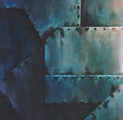 mur faux métal