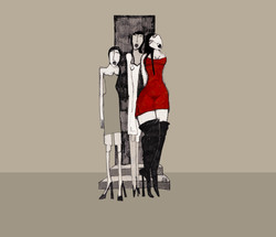 Cathy et les filles sur le trottoir