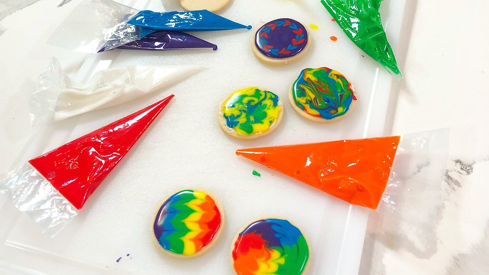 Tie Dye Cookie Kit - Half Dozen