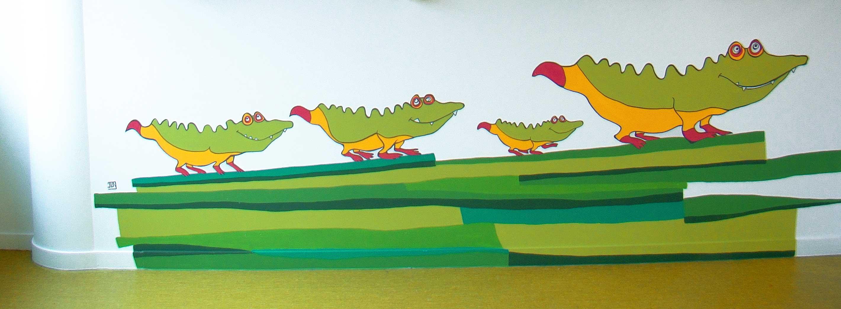 création pour murale pour crêche d'entre