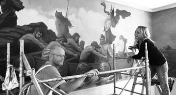 restauration fresque Vikings
