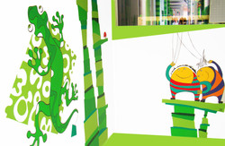 création murale crèche d'entreprise