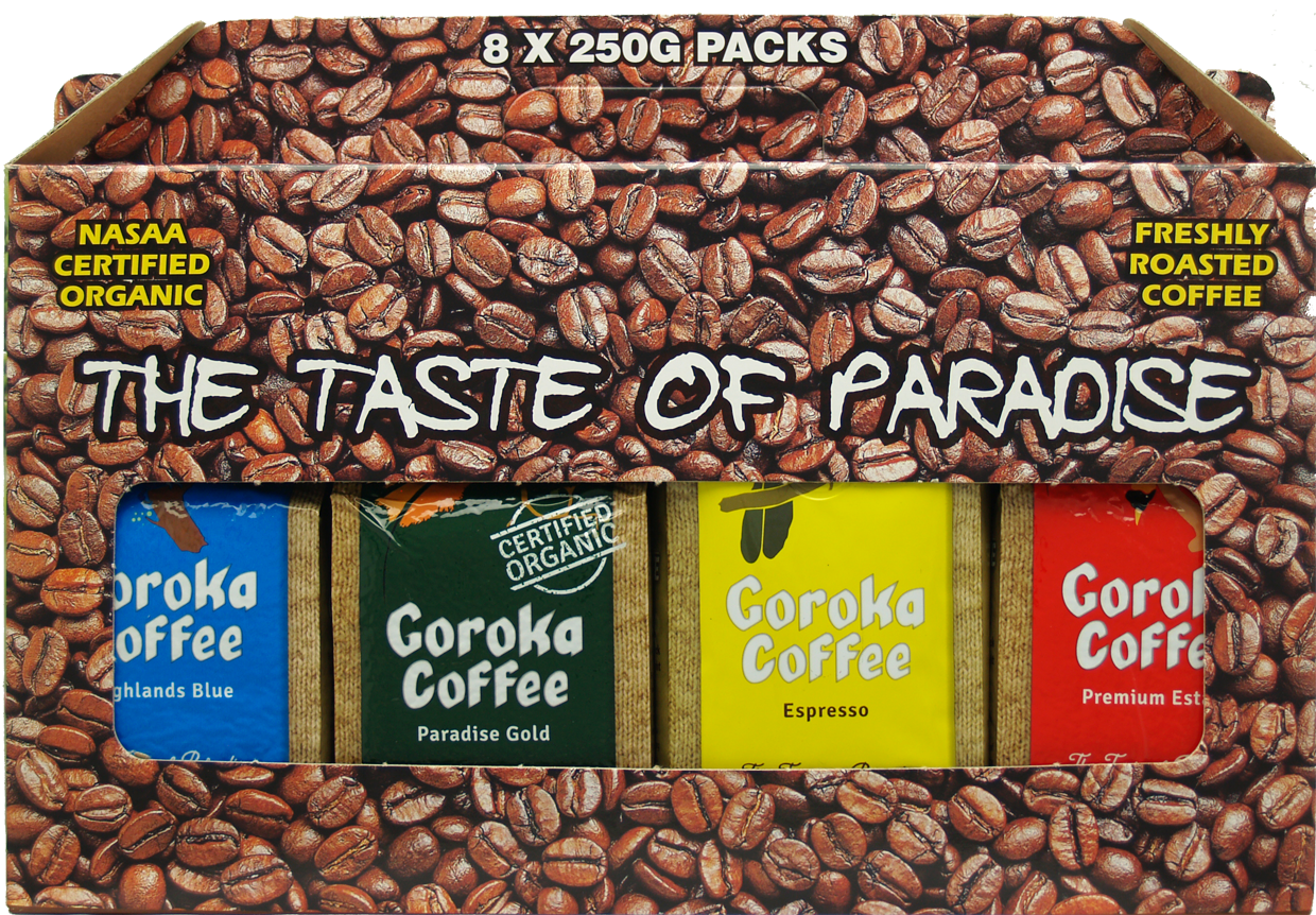 Goroka Coffee 2kg Gift Box 8x250g