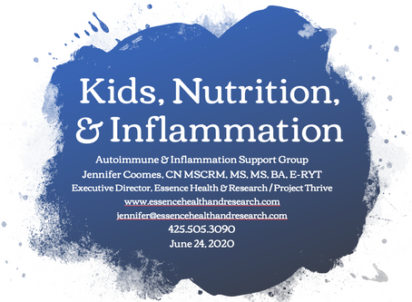Kids, Nutrition, & Inflammation