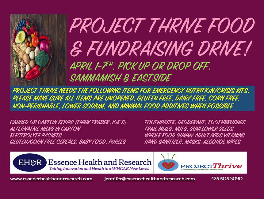 Project Thrive Food & Fundraising Drive,