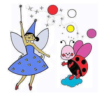 Affiche spectacle de magie jeune public : La fée Liloo et la coccinelle