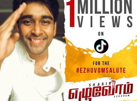 1 Million Views for #EzhuvomSalute on TIKTOK