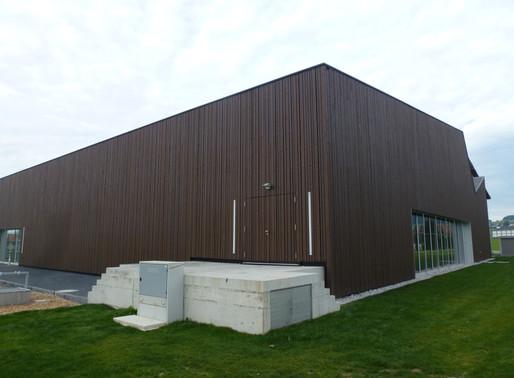 Salle omnisports de Sâles (FR) - Le bois prend de la hauteur