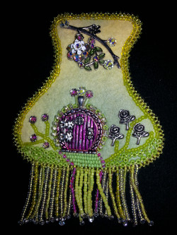 Rose Fairy Door necklace