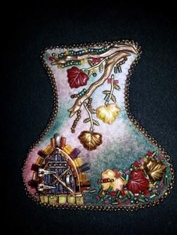 Autumnal Fairy Door necklace