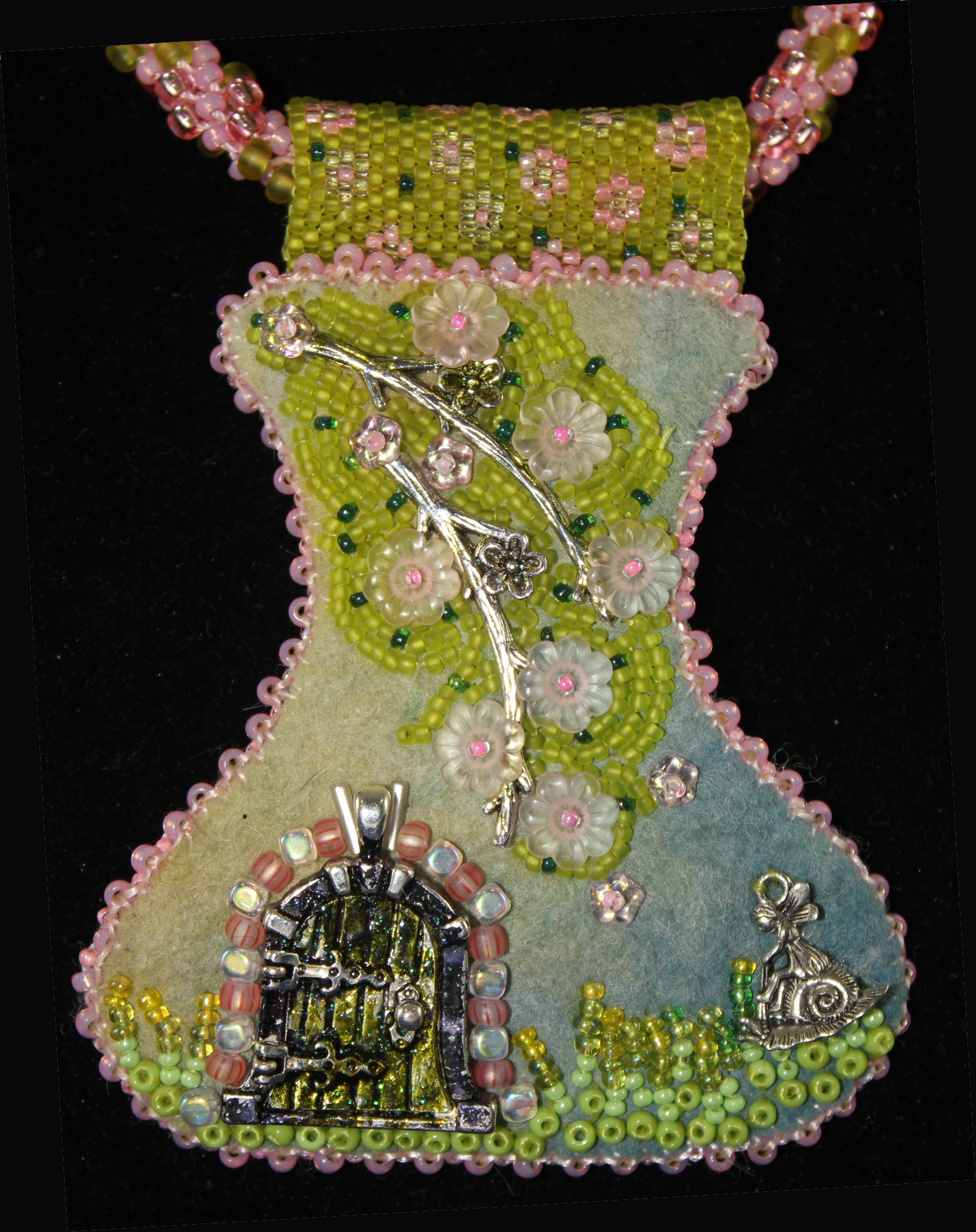 Dogwood Fairy Door necklace