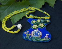 Blue Garden Door Necklace