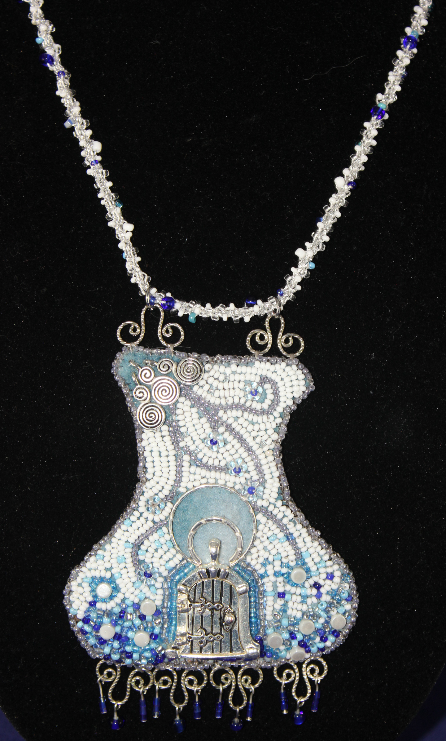 Winter's Storm Door necklace