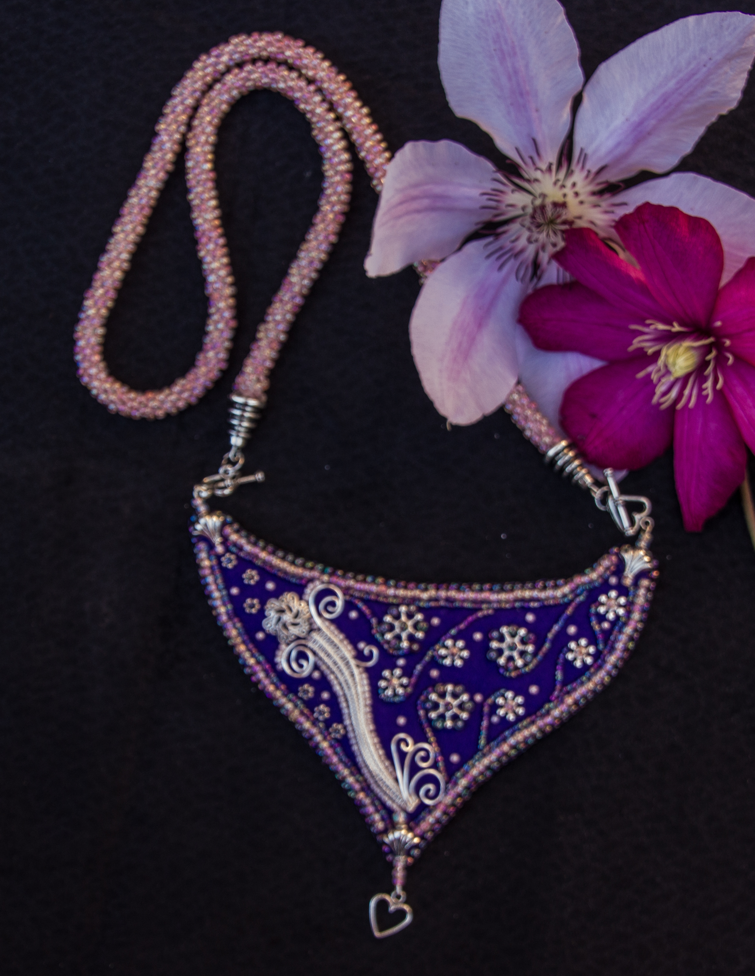 Art Nouveau purple necklace