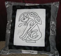 Cat & Mouse pillow